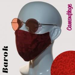 Ženska maska AURORA -  Barok - Rdeča