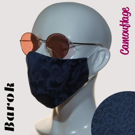 Ženska maska AURORA -  Barok - Modra - temna